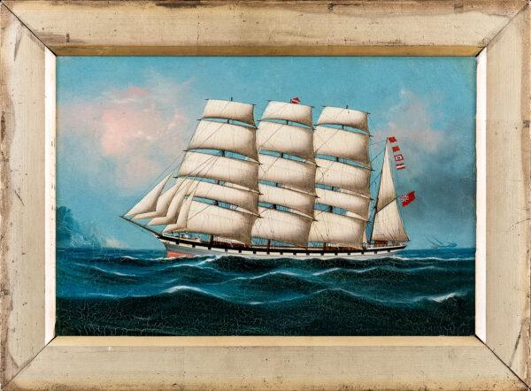 KENSINGTON C. (Active 1884-1929) - 'Lioness of Littlehampton' in the China Sea.