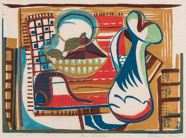 KENT Florence (Florence Goldman. Florence Kent Hunter) (U.S.A. 1917-1989) - 'Two Turtles'.