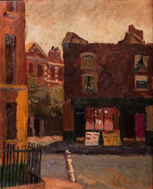 KENWORTHY David (Lord Stabogli 1914-2010) - 'Arthur Street, Chelsea' (Dovehouse Street since 1939).