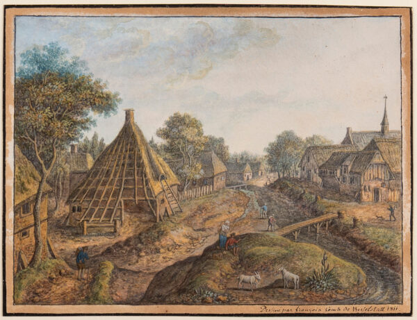 KASSELSTATT Francois, Comte de (1753-1841) - Village scene.