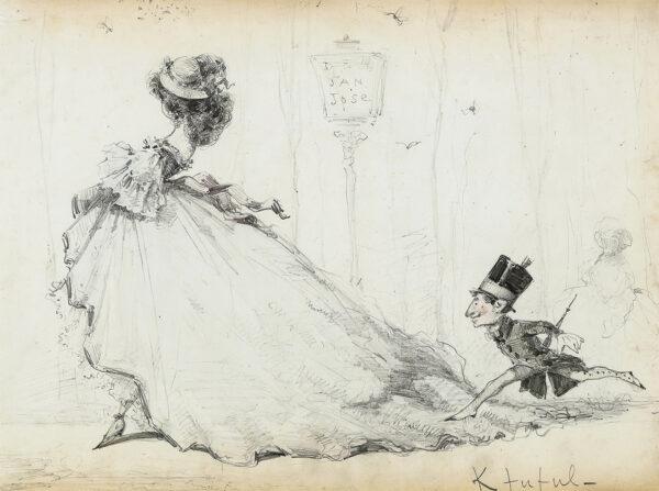 KFUFUL - A courtesan and her man servant, possibly Barcelona.