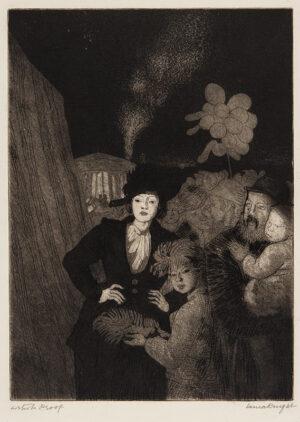 KNIGHT Dame Laura D.B.E. R.A. R.E. (1877-1970) - 'A Fair'.