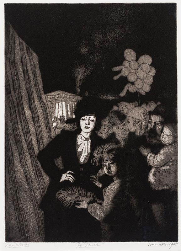 KNIGHT Dame Laura R.A. R.W.S. (1877-1970) - 'A Fair'.