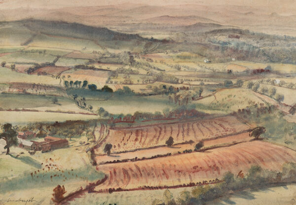KNIGHT Dame Laura D.B.E. R.A. (1877-1970) - Herefordshire landscape, painted from the artist's studio, Hereford Beacon, near Malvern.