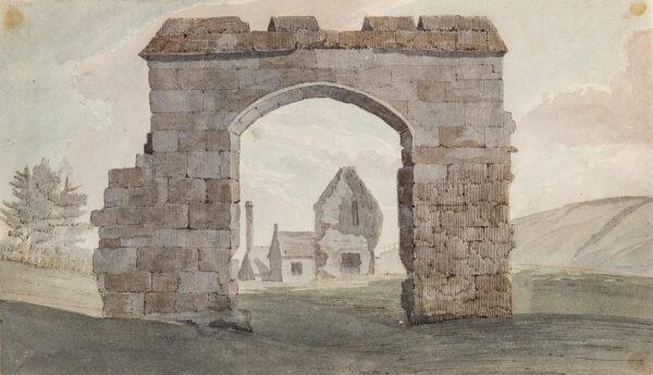 KNIGHT John Baverstock (1785-1859) - Recto: Ancient Gateway, probably Dorset.