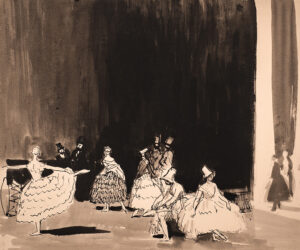 KNIGHT Dame Laura R.A.  R.W.S. (1877-1970) - 'Carnival waiting to go on'.