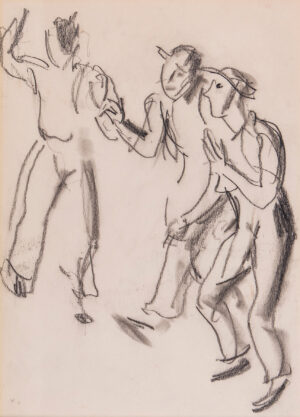KNIGHT Dame Laura R.A. R.W.S. (1877-1970) - Dancing men.