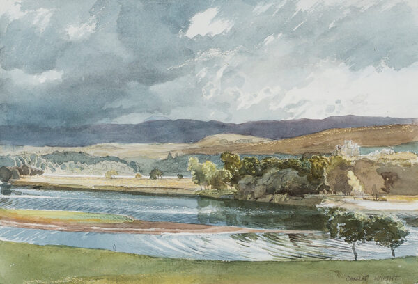 KNIGHT Charles V.P.R.W.S. (1901-1990) - 'Sunshine and Showers over Loch Awe'.