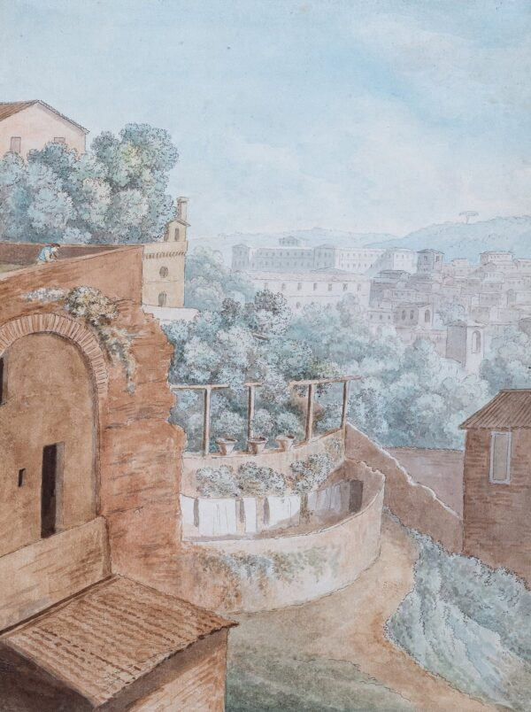 KNIGHT Ellis Cordelia (1757-1837) - 'Rupe Tarpe': the Tarpeian Rock, Rome.