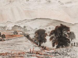 KNIGHT Dame Laura D.B.E. R.A. R.W.S. (1877-1970) - The Malvern Hills.