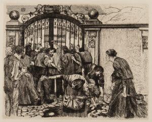 KOLLWITZ Kathe (1867-1945) - 'Riot' (K.