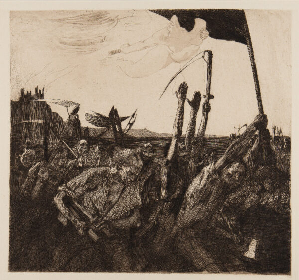 KOLLWITZ Kathe (1867-1945) - 'Uprising' (K.