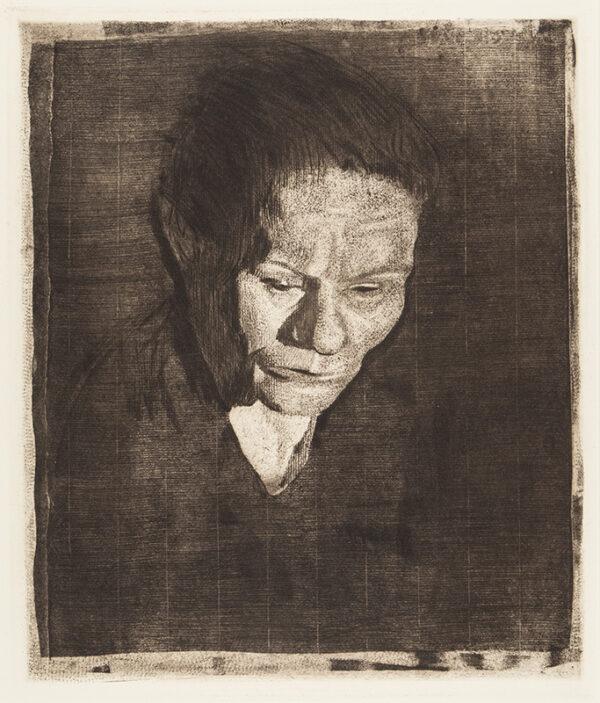 KOLLWITZ Kathe (1867-1945) - 'Woman with bowed head' (Kn.