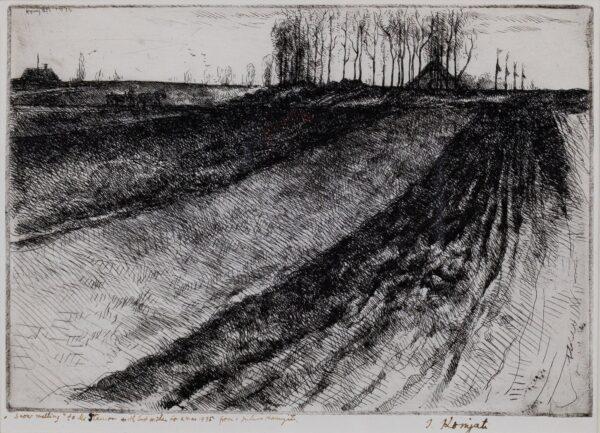 KOMJATI Julius A.R.E. (1894-1958) - 'Snow melting'.