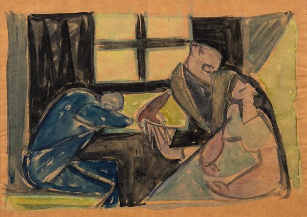 KRAJEWSKA Helena (Polish. 1910-1998) - 'The Train'.
