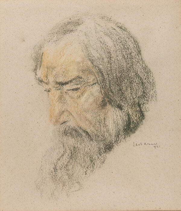KRAMER Jacob (1892-1962) - Head of a bearded man.