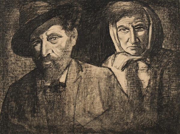 KRAMER Jacob (1892-1962) - 'My Parents', the Ukranian artist Max Kramer and folk singer Cecilia Kramer.