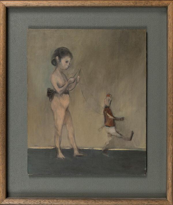KRUT Ansel (b.1959) - 'Girl and Puppet'.