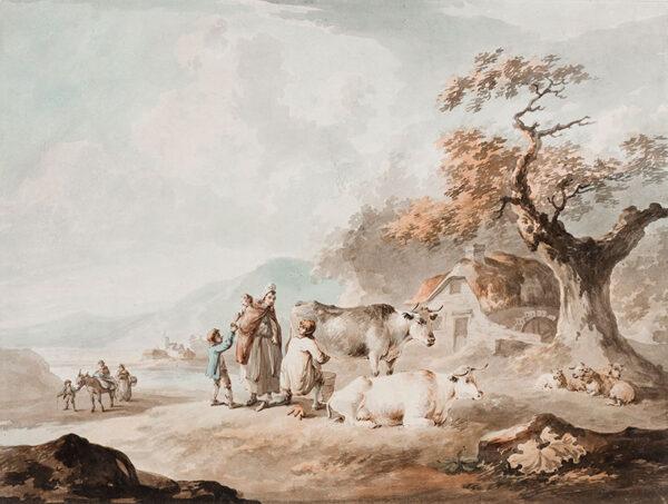 LA CAVE Peter (c.1769-1806) - A remote farm.