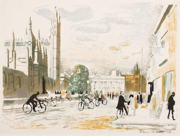 LA DELL Edwin A.R.A. (1914-1970) - 'Kings Parade, Cambridge'.