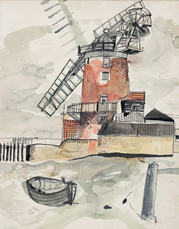 LA DELL Edwin A.R.A. (1914-1970) - Cley Windmill, Norfolk.