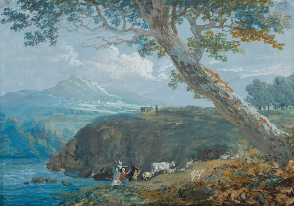 LAPORTE John (1761-1839) (Circle of) - Herding cattle.