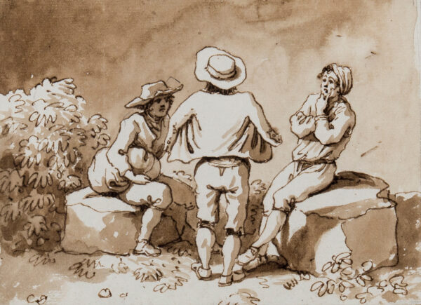 LABRUZZI Carlo (1765-1818) - Three men in Conversation.