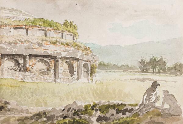 LABRUZZI Carlo (1748-1817) - 'Ruins near Capua'.