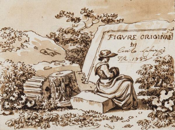 LABRUZZI Carlo (1748-1817) - 'Figure Originali di Carlo Labruzzi / FR (Fecit Roma) 1788'.