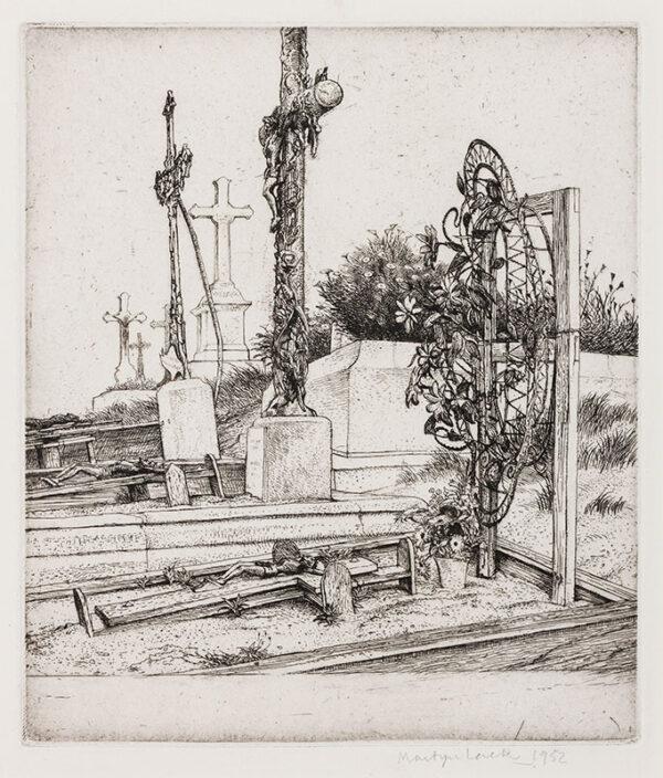 LACK Henry Martyn R.E. (1909-1979) - Churchyard, Treboul, Brittany.