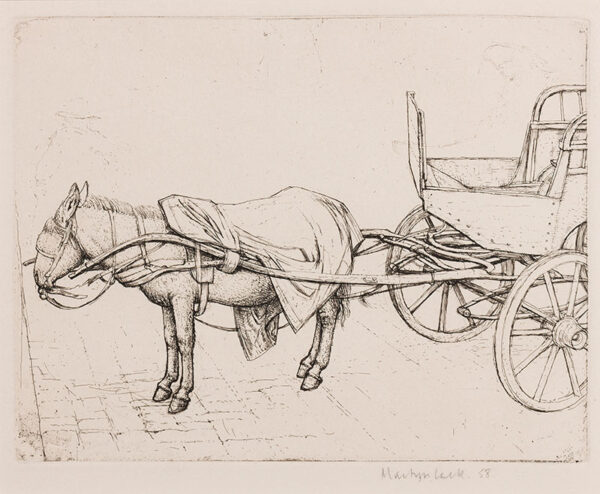LACK Henry Martyn R.E. (1909-1979) - Donkey and Cart.