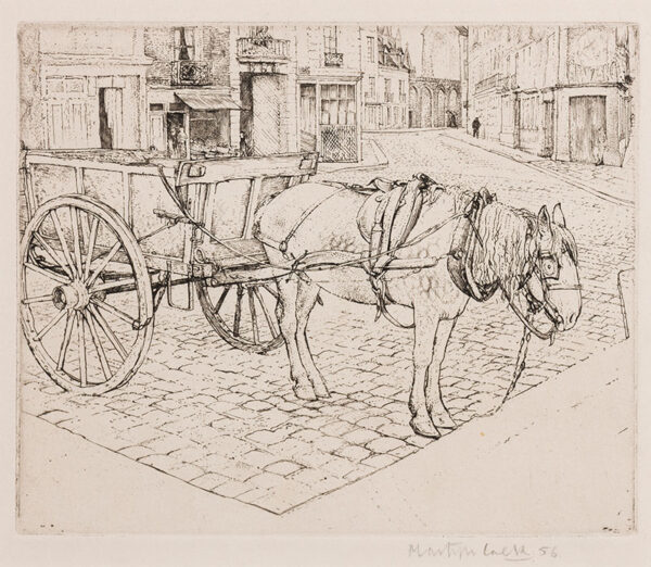 LACK Henry Martyn R.E. (1909-1979) - Horse and Cart, Dieppe.
