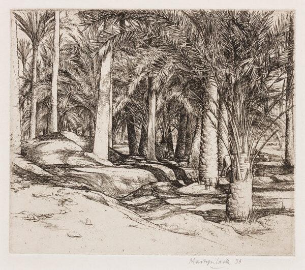 LACK Henry Martyn R.E. (1909-1979) - Palm grove, Egypt.