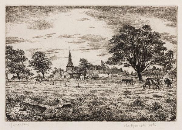 LACK Henry Martyn R.E. (1909-1979) - Landscape, Sussex.