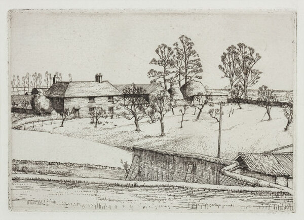LACK Henry Martyn R.E. (1909-1979) - Winter Farm.