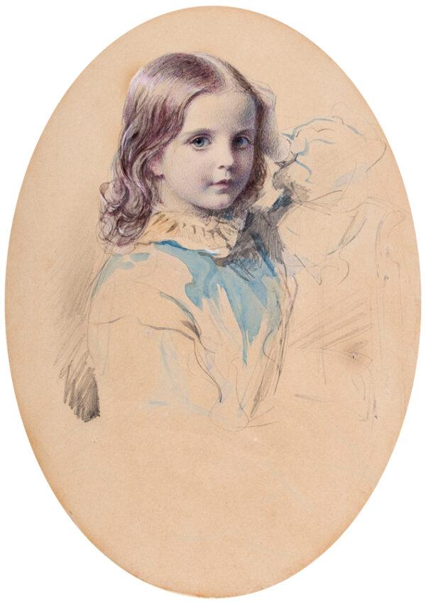 LACRETELLE Jean Edouard (1817-1900) - 'Alice aged 9'.