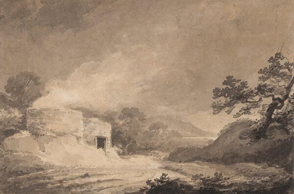LADBROOKE Robert (1768-1842) (Attributed to) - Smoking Lime Kiln.