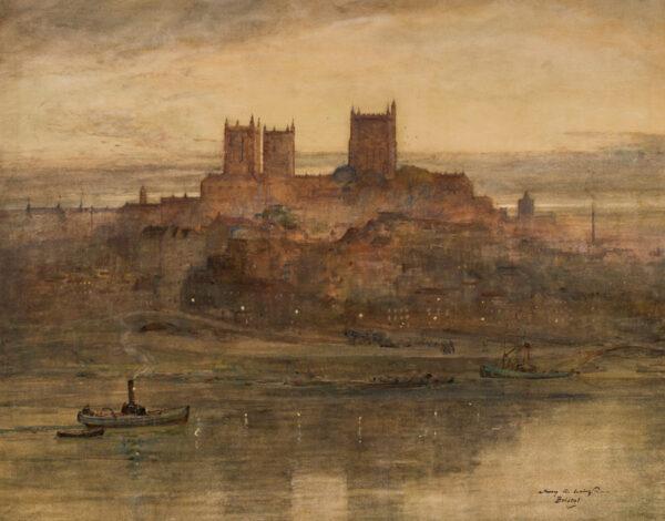 LAING James Garden (1852-1915) - 'Bristol at dusk'.