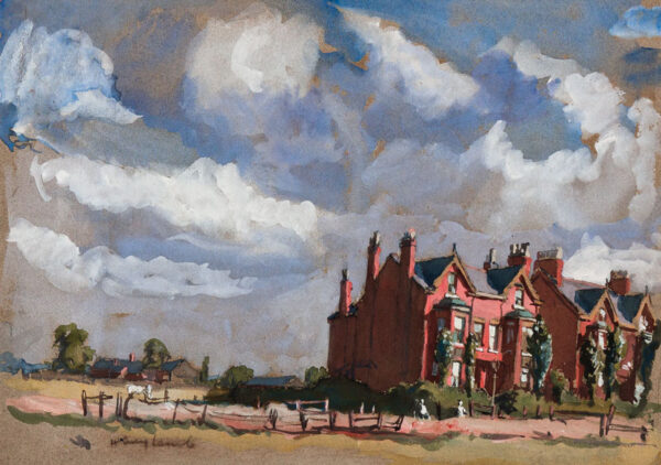 LAMB Henry R.A. (1883-1960) - A Hampstead view.