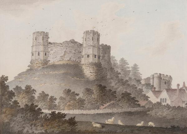 LAMBERT James Jnr (1741-1799) - 'West View of Lewes Castle'.
