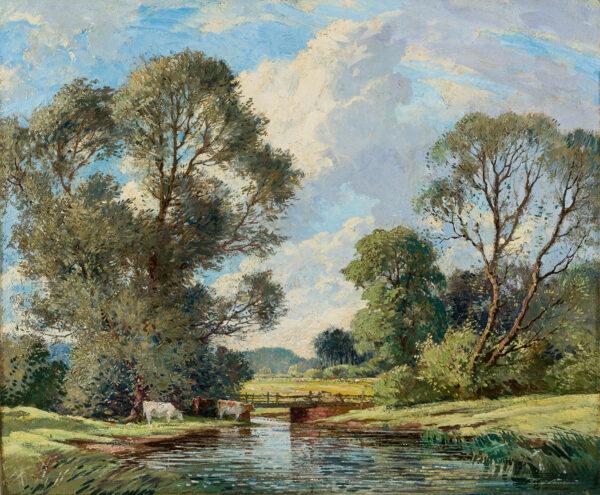 LANCASTER Percy (1878-1951) - A Sussex landscape.