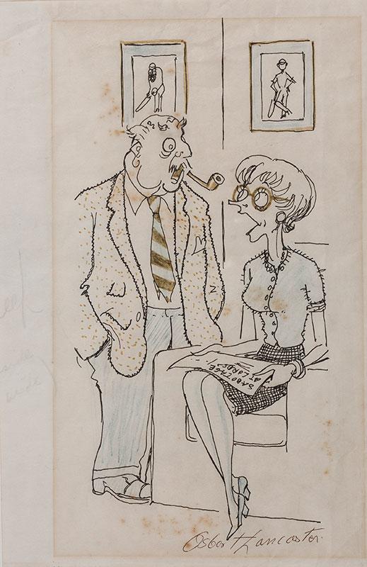 LANCASTER Sir Osbert (1908-1986) - 'Sabotage at Lords.