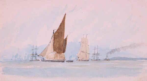 LANDELLS Ebenezer (1808-1860) - Thames Barges.