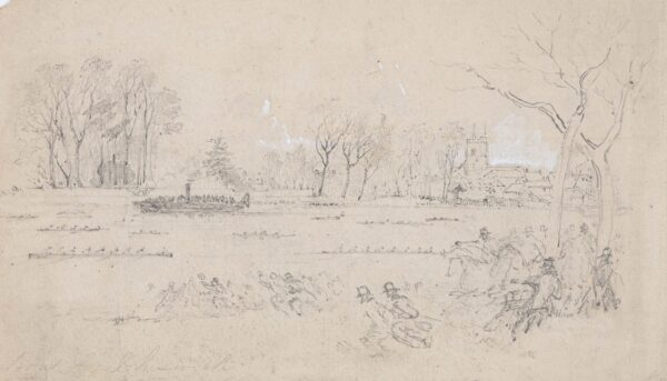 LANDELLS Ebenezer (1808-1860) - 'Boat Race, Chiswick'.