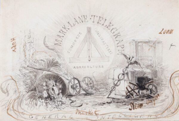 LANDELLS Ebenezer (1808-1860) - 'Mark Lane Telegraph'.