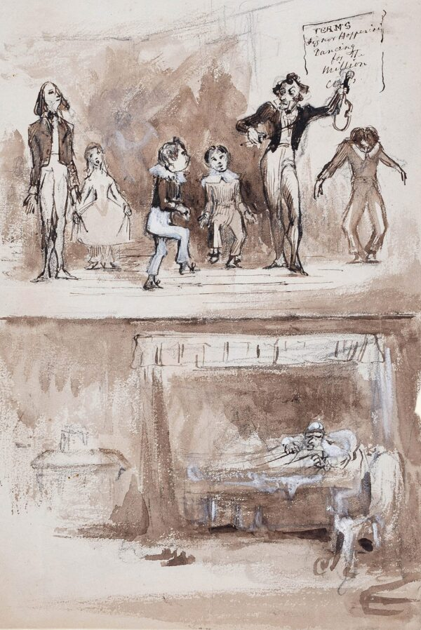 LANDELLS Ebenezer (1808-1860) - 'Signor Hopperini's' dancing class disturbing the downstairs neighbour.
