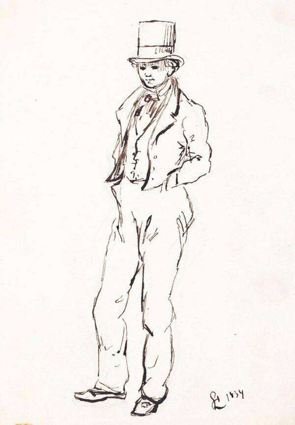 LANDELLS Ebenezer (1808-1860) - Standing Boy.