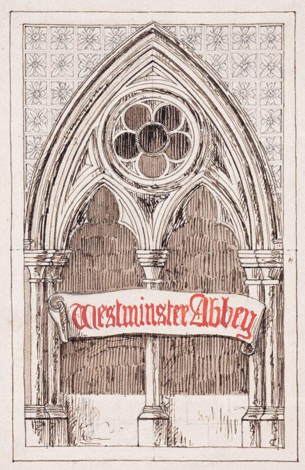LANDELLS Ebenezer (1808-1860) - 'Westminster Abbey'.