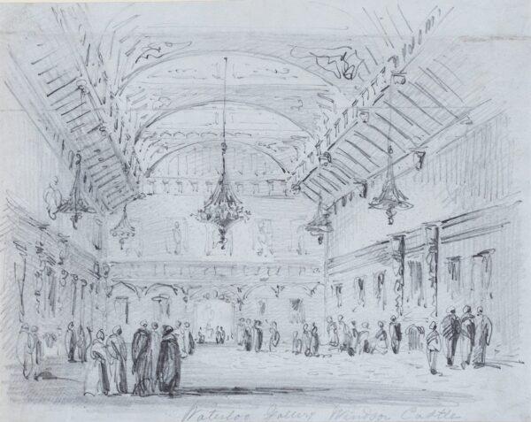 LANDELLS Ebenezer (1808-1860) - 'Waterloo Gallery, Windsor Castle'.