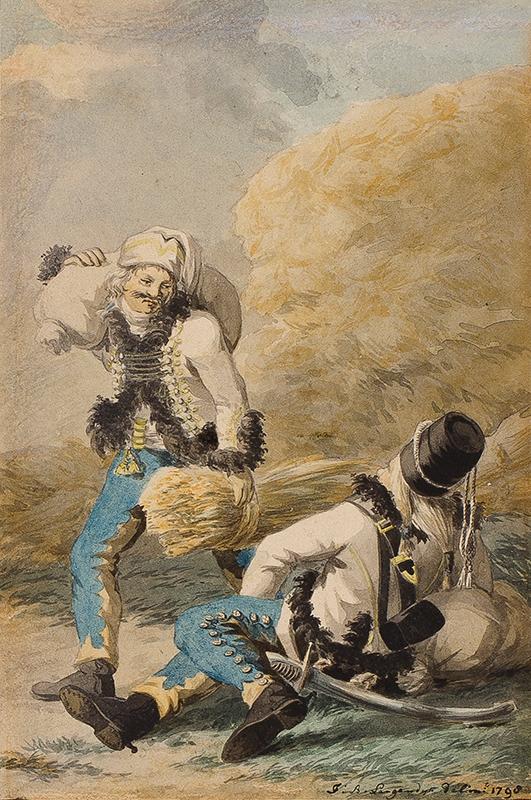 LANGENDYK Jan Anthonie (1780-1818) - Plundering soldiers.
